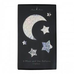 Palloncini a forma di luna e stelle
