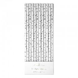 Cannucce di carta con stelline d'argento