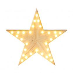 Stella di Natale in legno luminosa