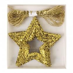 Ghirlanda natalizia stelle dorate