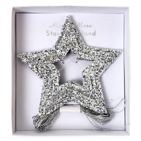 decorazioni natalizie stelle d'argento