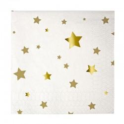 Tovagliolini di carta natalizi con stelline dorate