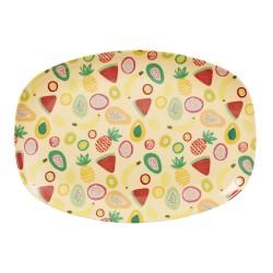 Piatto ovale con fantasia tutti frutti