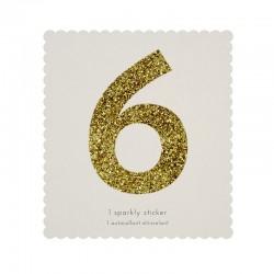 Adesivo glitter n° 6