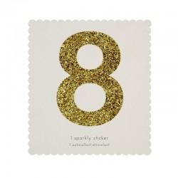 Adesivo glitter dorato n° 8