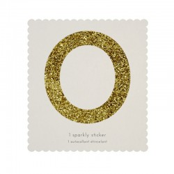 sticker glitterato oro