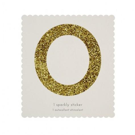 sticker glitterato oro