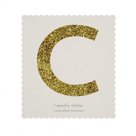 Lettera adesiva con glitter