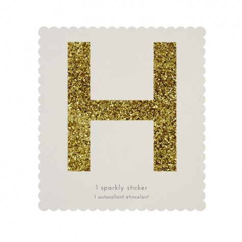 Lettera adesiva H