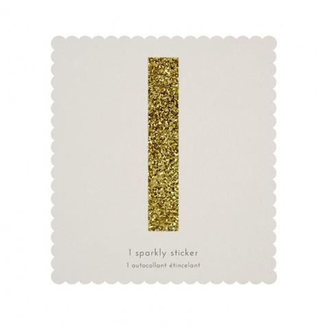 Lettera adesiva glitter dorata