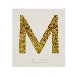 Lettera adesiva M