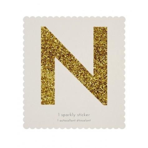 Lettera adesiva N