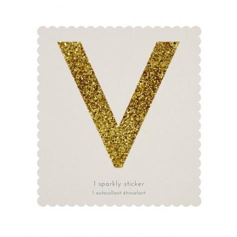 Lettera adesiva V