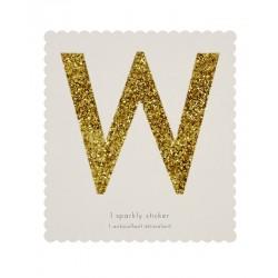 Lettera adesiva W