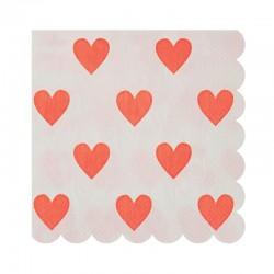 Tovagliolini di carta a cuoricini