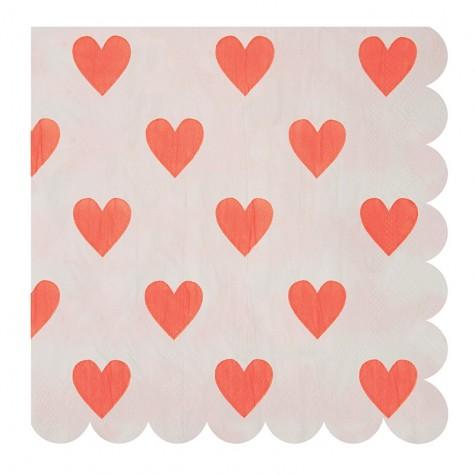Tovaglioli di carta a cuoricini, San Valentino edition