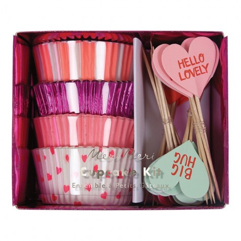 Pirottini e decorazioni per cupcake di San Valentino