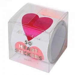Rotolo di stickers adesivi San Valentino