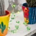 Mini luci a led a forma di cactus