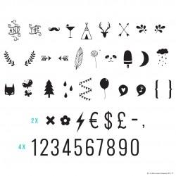 Numeri e simboli per lampada Lightbox