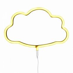 Lampada a LED neon style, nuvoletta gialla