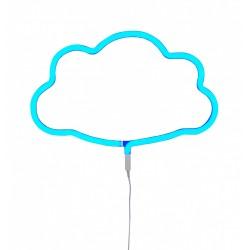 Lampada a LED neon style, nuvoletta azzurra