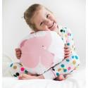 Cuscino elefantino rosa