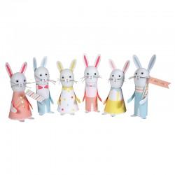 Segnaposti pasquali a forma di coniglietti