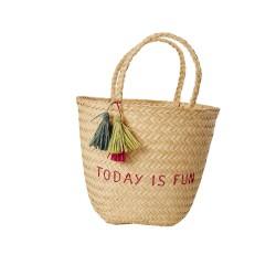 """Today is fun"" beach bag"
