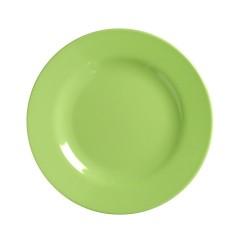 Piatto frutta in tinta unita verde neon
