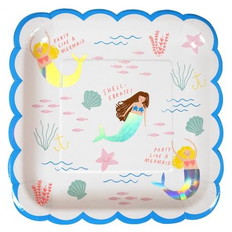 Piatti di plastica fantasia Sirene