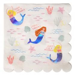 Tovaglioli di carta fantasia Sirene
