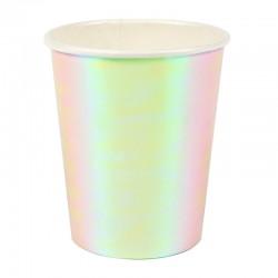 Bicchieri di carta iridescenti