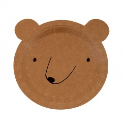 Piatti di carta fantasia orsetto