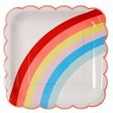 Piatti di plastica arcobaleno