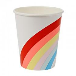 Bicchieri di carta fantasia arcobaleno
