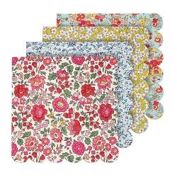 Tovaglioli di carta con fantasie floreali Liberty
