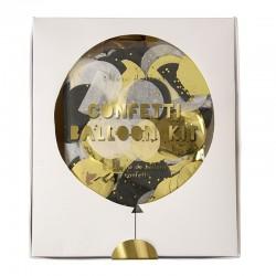 Palloncini con coriandoli dorati