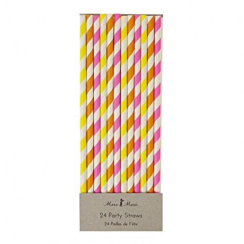 Cannucce di carta colorate