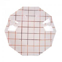 Piattini di carta a quadretti