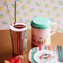 Zuccheriera rosa smaltata