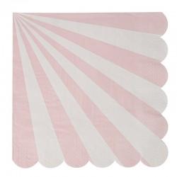 Tovaglioli di carta a righe rosa