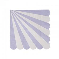 Tovagliolini di carta a righe lilla