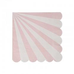 Tovagliolini di carta a righe rosa