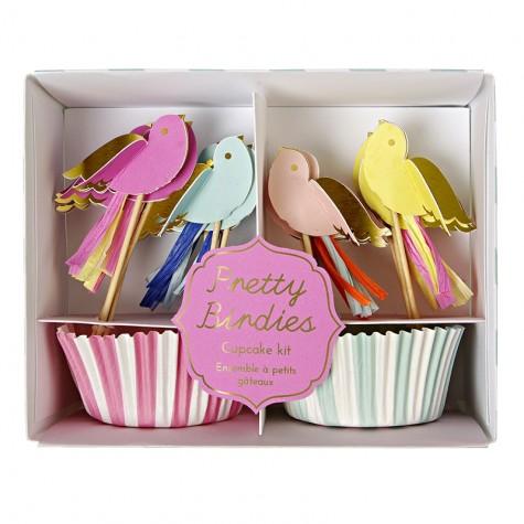 Decorazioni per cupcake con pirottini a righe