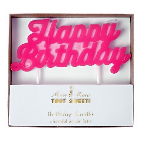 Candela Happy Birthday rosa