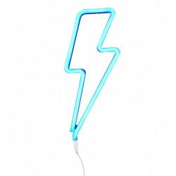 Lampada a LED neon style, saetta azzurra