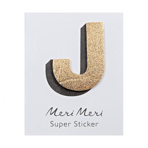 Sticker eco-pelle lucida J