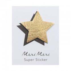 Sticker eco-pelle lucida stella