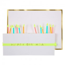 Biglietto Buon Compleanno con candeline